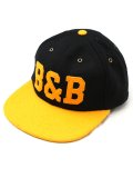 "Ball and Buck ""THE BEANTOWN SERIES HAT, BLACK AND GOLD EDITION"""