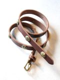 "Nasngwam ""CONCHO LEATHER BELT(BROWN)"""