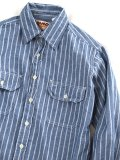 "CAMCO ""L/S STRIPE CHAMBRAY SHIRTS(BLUE)"""