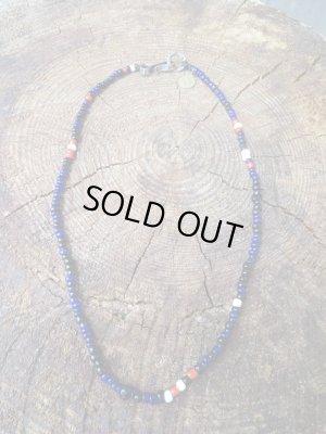 """画像2: NORTH WORKS """"Nickel 10¢ Hook Beads Necklace""""(BLUE)"""