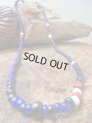 """画像1: NORTH WORKS """"Nickel 10¢ Hook Beads Necklace""""(BLUE)"""