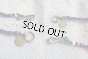"""画像4: NORTH WORKS """"Nickel 10¢ Hook Beads Necklace""""(BLUE)"""