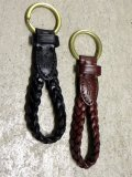 "Ralph Lauren ""BRAID LEATHER KEYLOOP"""