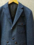 "【H by FIGER】""3B Norfolk Jacket (Navy)"""