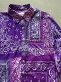 "【Nasngwam】""SKELTER SHIRTS (BANDANA:PURPLE)"""